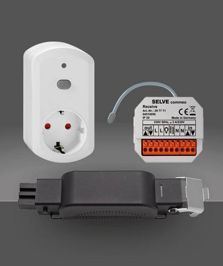 commeo Receive, commeo Receive Connect, commeo Adapter Plug (iveo‑kompatibel)